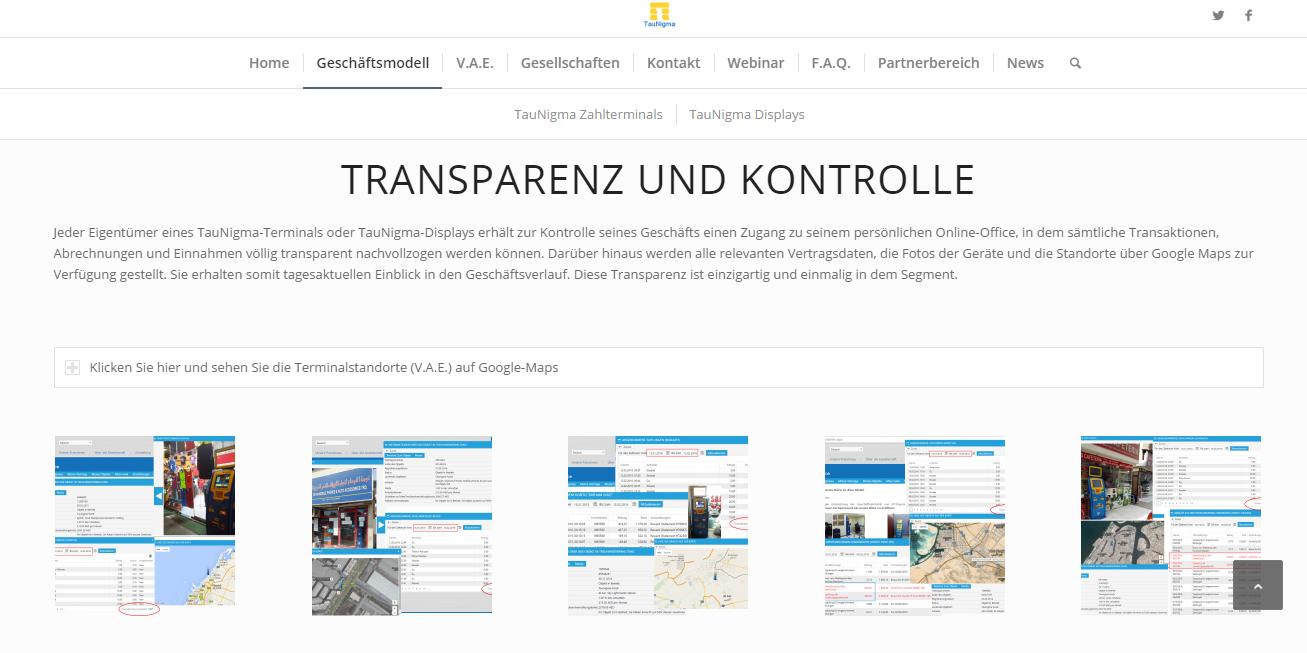 Transparenz und Kontrolle